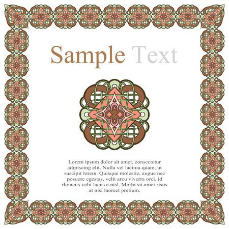 dashes: vintage style ornamental border frame patterns vector