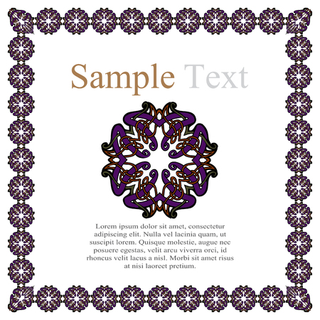 dashes: vintage style ornamental border frame patterns vector