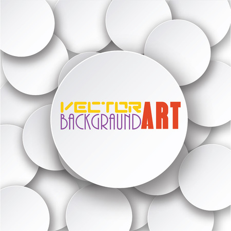schematically: Vector abstract background, 3D overlapping circles, vector design.