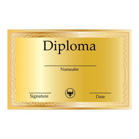 sertificate: Modern Certificate. Template horizontal diplomas currency. Vector