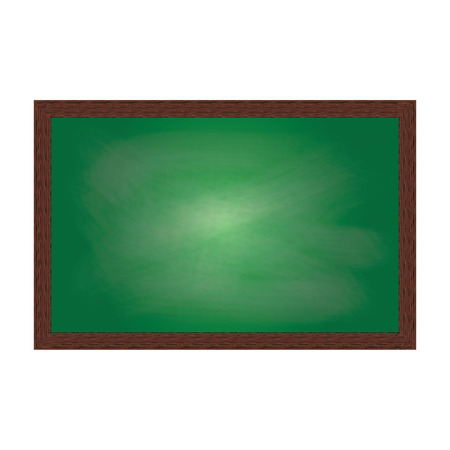 empty classroom: Empty school board in wooden frame. Vector eps 10