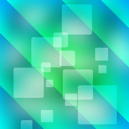 Blue shiny squares technical background. Vector design Stock Photo