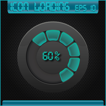 Progress bar and loading icons 60 percent