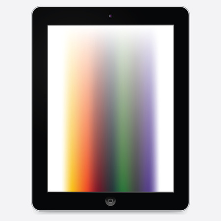 generic tablet pc - ipad like vector tablet pc