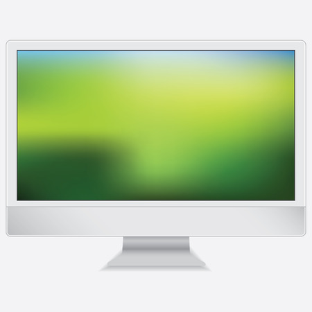 Computer monitor display isolated. Vector illustration EPS 10.