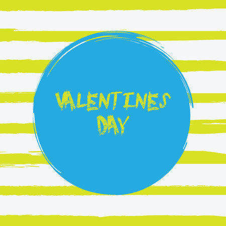Grunge brush banner. Happy Valentines Day hand lettering phrase. Romantic vintage strip vector illustration Valentines Day card. Calligraphy holiday design Valentines background. Ilustração