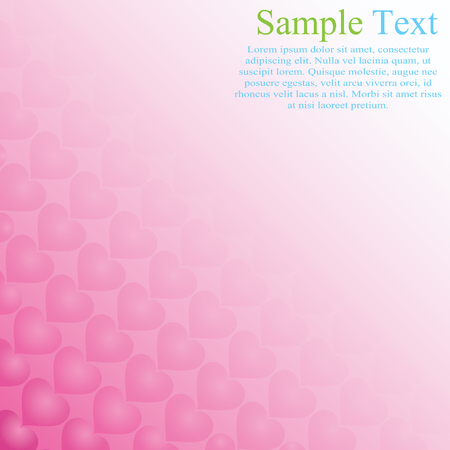 Template for a romantic message. Greeting card for Valentine's day. Wedding invitation. Pattern of hearts.