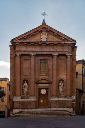 The San Cristoforo Church at Siena, Tuscany Region in Italy