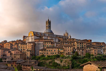 View over the old town of Siena at the Tuscany Region in Italy