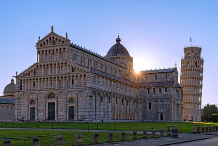Sunrise at the Santa Maria Assunta Cathedral at Pisa, Tuscany Region in Italy