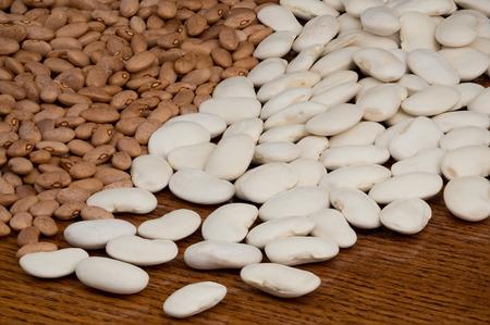 runner bean: Beans scattered on a table