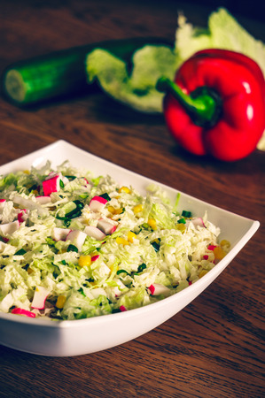 side dish: Side dish with corn and salad