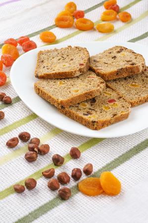 frutos secos: Pan con frutos secos