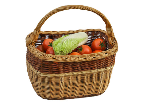matured: Basket with vegetables