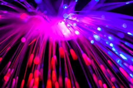 transcendental: abstraction of light fiber optic wire