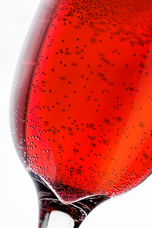tipple: Red drink with bubbles at the grocery
