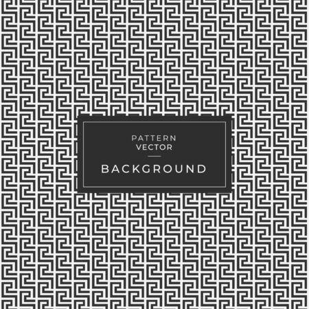 Lace textured geometric modern greek vector seamless pattern. Ornate black and white grid lattice patterned greek key meanders ornament.