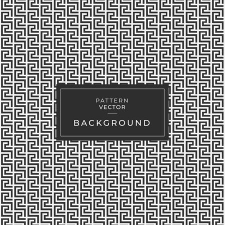 Vector seamless pattern. Modern stylish texture. Repeating Greek pattern. Monochrome swatch with meander. Ilustracja