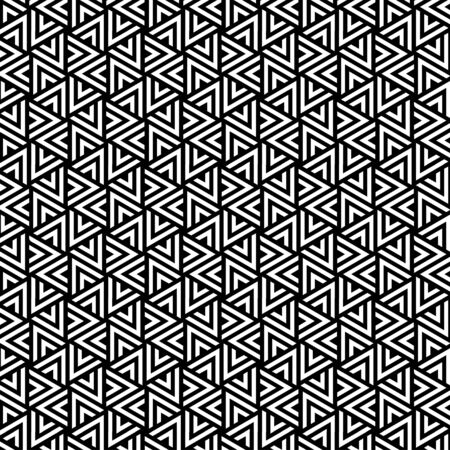 pattern design geometric seamless triangle line background black and white vector web illustration eps10 illustrator Vector Illustration