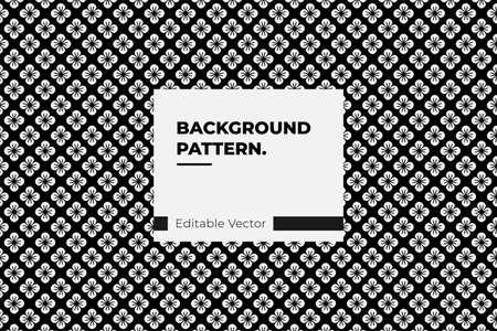 floral japanese seamless pattern geometric ornament texture black background Illustration