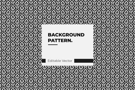 floral vector seamless pattern. Abstract vector texture Damask black background Illustration