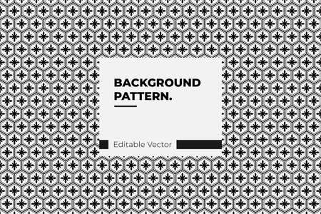 Japanese seamless pattern in style kumiko black line texture