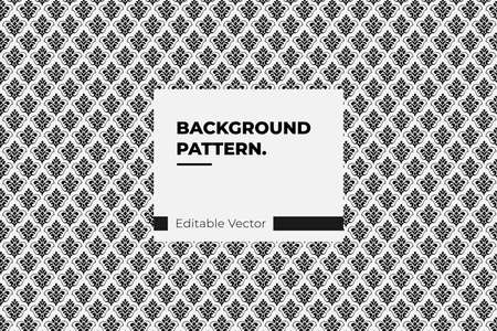 pattern background Paisley or Damask black Floral Seamless Pattern, Vector Ornament