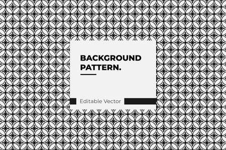 Seamless pattern based on Japanese geometric ornament. Black and white texture Illustration