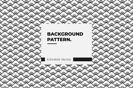 background Vector seamless Japanese style floral pattern traditional design Illustration