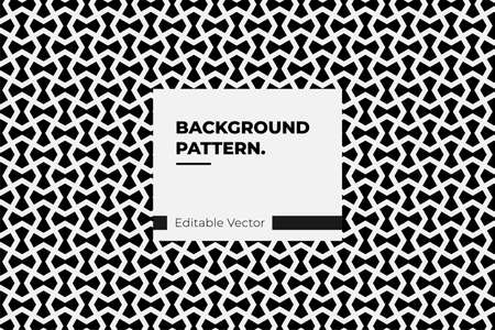 pattern background hexagonal line black and white for fashion and interior design