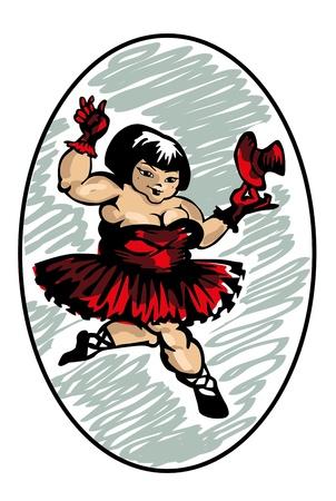 funny dancer wander from Daville, vector illustration Stock Vector - 12342127