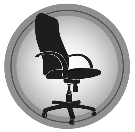 imagen de silla de oficina con un fondo gris Ilustración de vector
