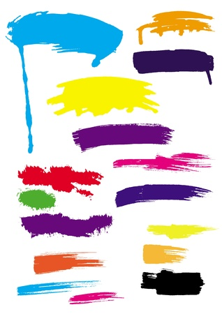 brush strokes  set of color