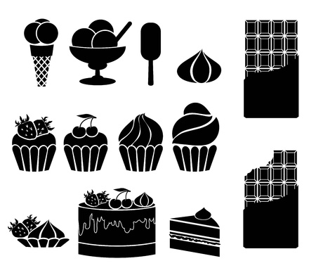 sweets  set of vector icons on a white background Vector