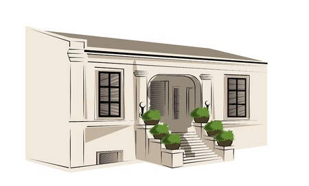 front porch: public building project on a white background