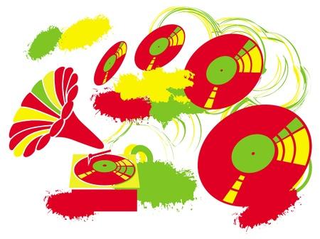 gramophone: improvisation on the theme of music  image Illustration