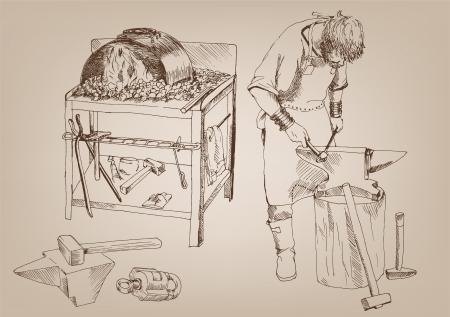 blacksmithing Ilustração
