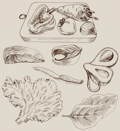 ingredients for cooking Vector
