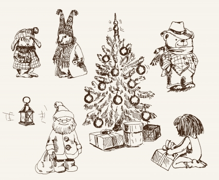 ambience: magical ambience of Christmas Illustration
