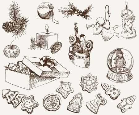 rejoicing: atmosfera magica del Natale Vettoriali