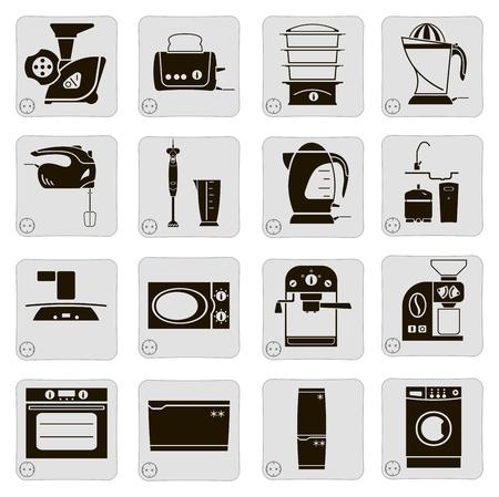 dispositivos eléctricos en la cocina