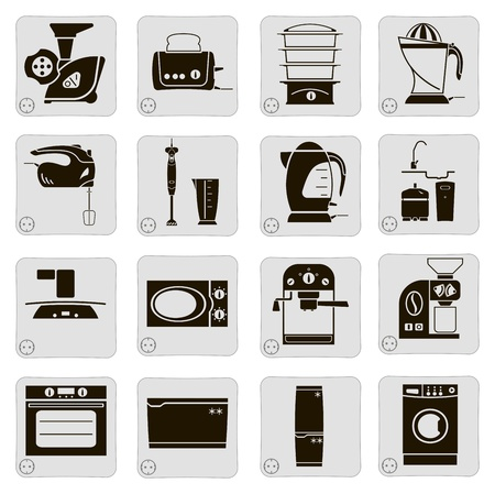 electrical devices in the kitchen Vector