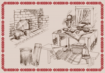 stove: Old Russian kitchen