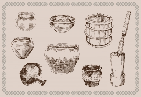 receptacle: Old Russian life Illustration
