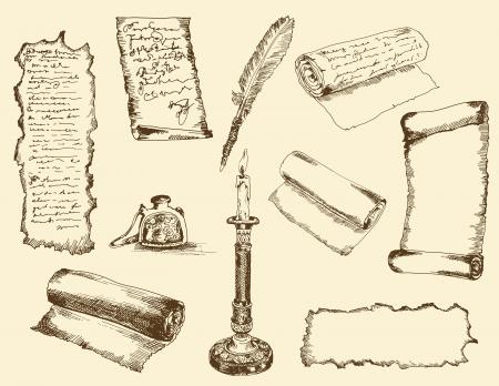 ancient writings Иллюстрация