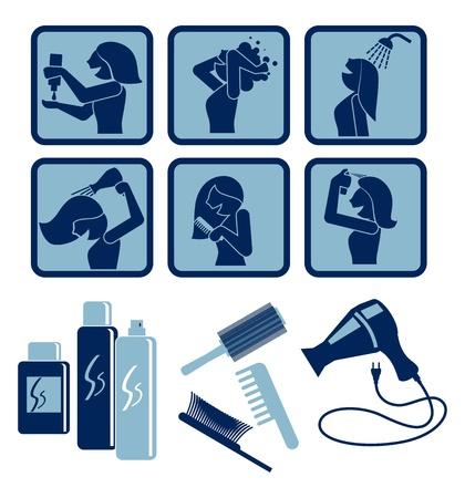 Hair care Vector