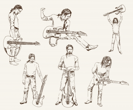 guitariste rock: guitariste de rock Illustration