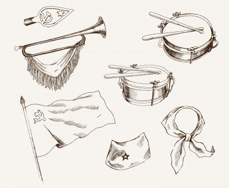 pioneer: symboles de pionniers Illustration