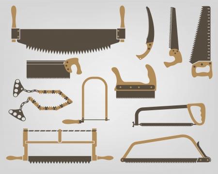 マニュアル: 手動ベンチ ツールを見た  イラスト・ベクター素材
