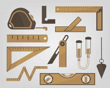 Iconos de los instrumentos de medición utilizados en la construcción